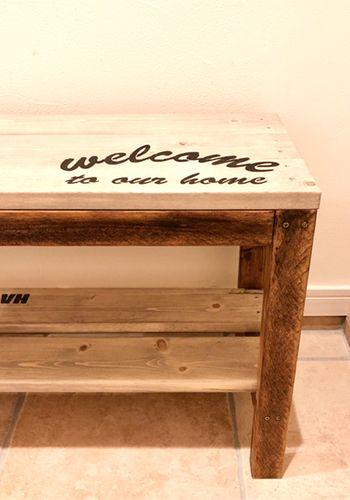 DIYでナチュリエの家の玄関に置きたいベンチを作る。