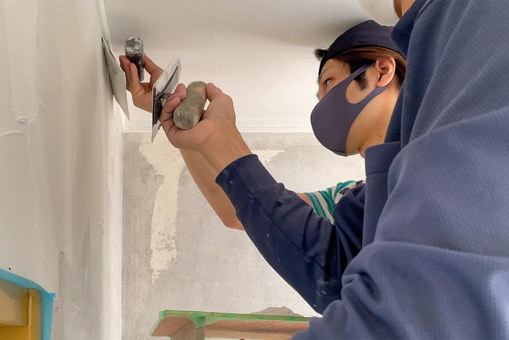 Let's DIY! 壁に珪藻土を塗りました!